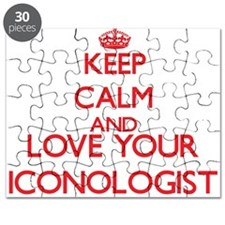 Keep Calm and love your Iconologist Puzzle