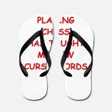 i love chess Flip Flops
