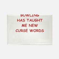 i love bowling Magnets