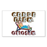 Carpe Diem Otiosam f Rectangle Sticker
