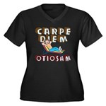 Carpe Diem Otiosam f Women's Plus Size V-Neck Dark