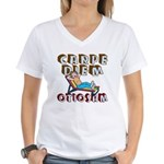 Carpe Diem Otiosam f Women's V-Neck T-Shirt