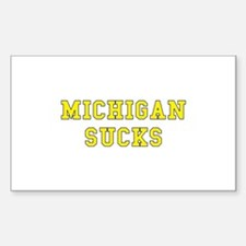 Michigan Sucks Rectangle Decal