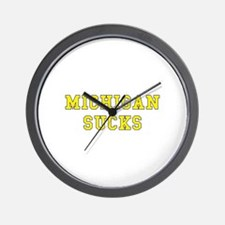 Michigan Sucks Wall Clock