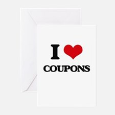 I love Coupons Greeting Cards