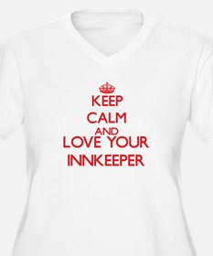 Keep Calm and love your Innkeepe Plus Size T-Shirt