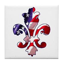 Independence Fleur de lis 4 Tile Coaster