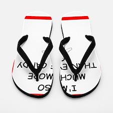 i love shot put Flip Flops