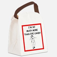 i love shot put Canvas Lunch Bag