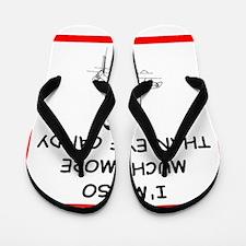 i love track and running Flip Flops