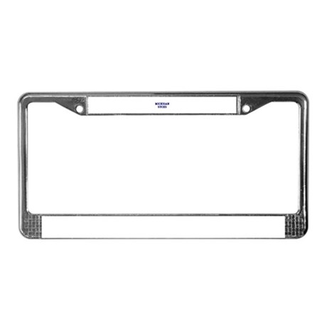 Michigan Sucks License Plate Frame