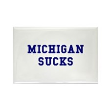 Michigan Sucks Rectangle Magnet