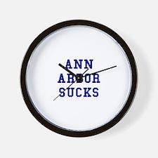 Ann Arbor Sucks Wall Clock