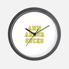 Ann Arbor Sucks Wall Clock