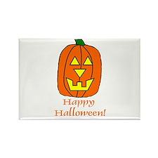 Happy Halloween Pumpkin Rectangle Magnet
