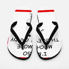 i love discus Flip Flops