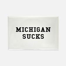 Michigan Sucks Rectangle Magnet