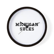 Michigan Sucks Wall Clock