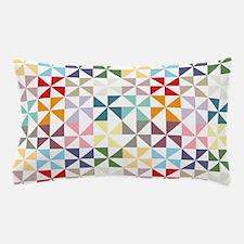 Colorful Geometric Pinwheel Pillow Case