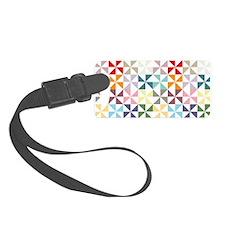 Colorful Geometric Pinwheel Luggage Tag
