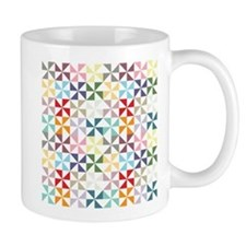 Colorful Geometric Pinwheel Mugs