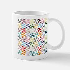 Colorful Geometric Pinwheel Mugs