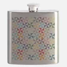 Colorful Geometric Pinwheel Flask
