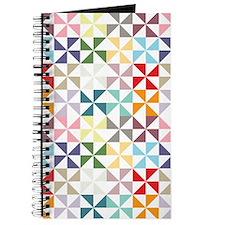 Colorful Geometric Pinwheel Journal