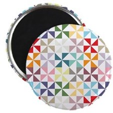 Colorful Geometric Pinwheel Magnets