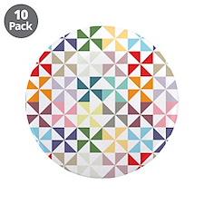 "Colorful Geometric Pinwheel 3.5"" Button (10 pack)"