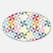 Colorful Geometric Pinwheel Decal