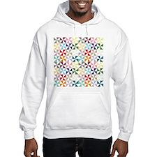 Colorful Geometric Pinwheel Hoodie