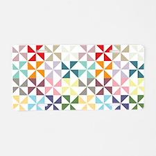 Colorful Geometric Pinwheel Aluminum License Plate