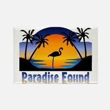 Paradise Found Rectangle Magnet