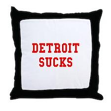 Detroit Sucks Throw Pillow