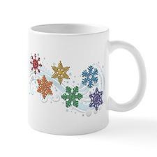Rainbow Snow Flakes Mugs