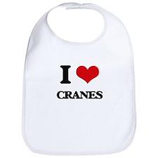 I love Cranes Bib