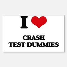 I love Crash Test Dummies Decal