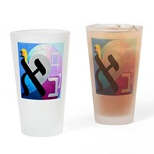 The Aleph Letter Drinking Glass