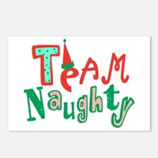 Team Naughty Postcards (Package of 8)