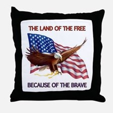 Land of the Free... Throw Pillow