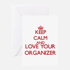 Keep Calm and love your Organizer Greeting Cards