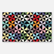 Colorful Pinwheels Black Decal