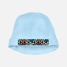 Colorful Pinwheels Black baby hat