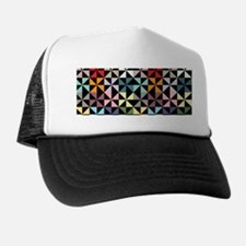 Colorful Pinwheels Black Trucker Hat