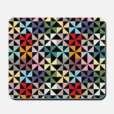 Colorful Pinwheels Black Mousepad