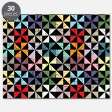 Colorful Pinwheels Black Puzzle