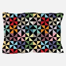 Colorful Pinwheels Black Pillow Case