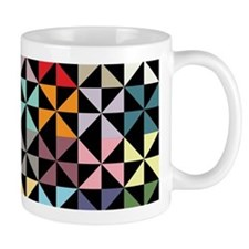 Colorful Pinwheels Black Mugs