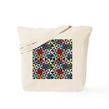Colorful Pinwheels Black Tote Bag